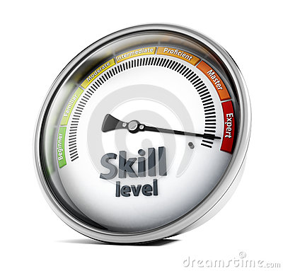Skill level Stock Photo