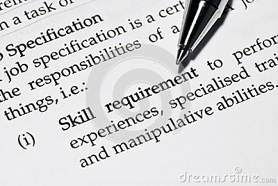 Skill requirement