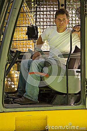 Skilled excavator operator