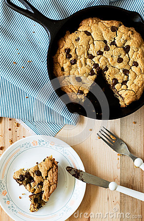 Free Skillet Cookie Royalty Free Stock Photography - 57506327
