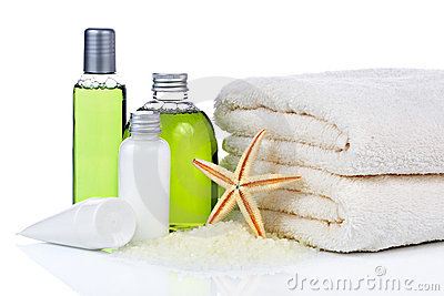 Skin care cosmetics and towels