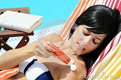 Skin Care in Pool