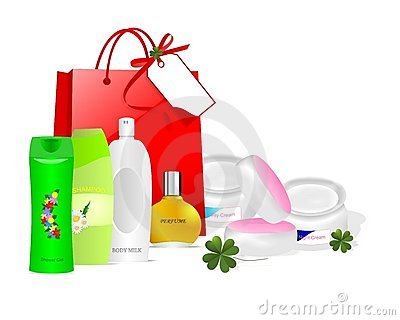 Skin care products, cdr vector