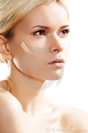 Skin care, visage & cosmetic. Make-up base tone