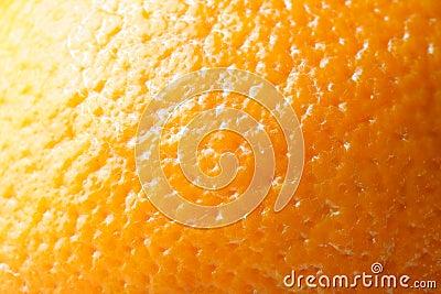 Skin of orange