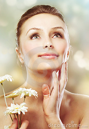 Free Skincare. Beauty With Herbs Royalty Free Stock Photo - 19093275