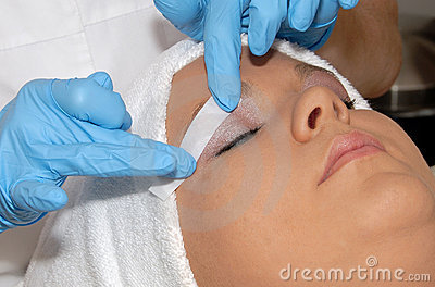 Skincare hair removal at day spa