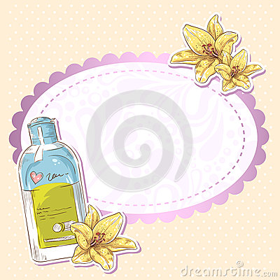 Skincare make-up bottle  card