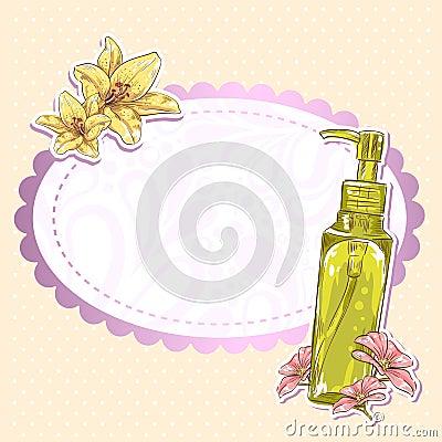Skincare make-up bottle  card
