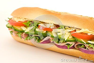 Skinkasalladsmörgås
