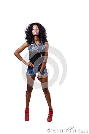 black skinny teens Try on a pair of black  super skinny jeans.