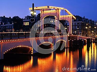 The Skinny Bridge, Amsterdam, Holland.