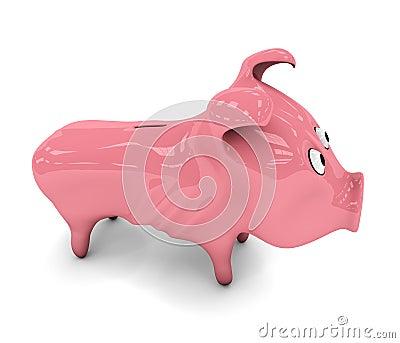 Skinny piggy bank