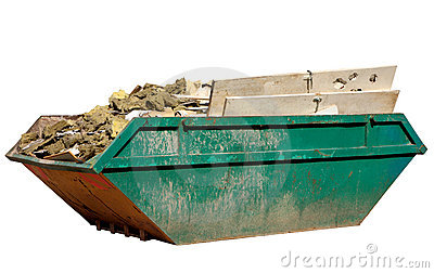 A skip full of building materi