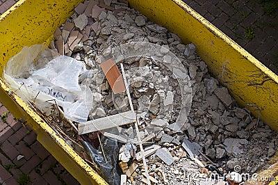 Waste rubble