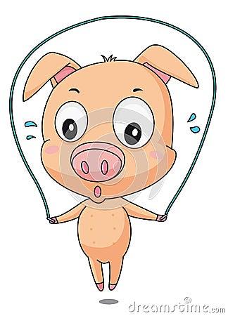 Skipping pig