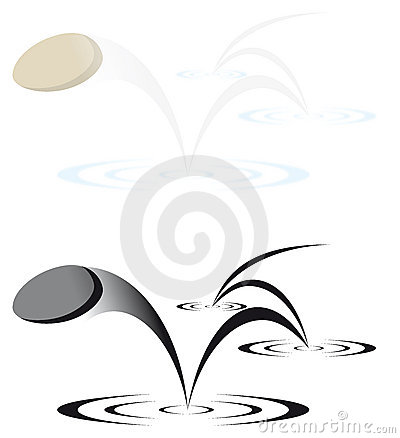 Free Skipping Stone Vector Illustration Royalty Free Stock Photography - 7541177