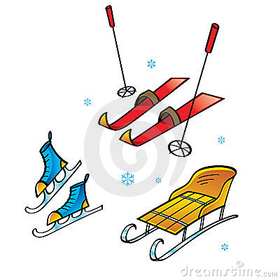 Skis Skates Sledge