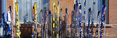 Skis in Vail Redactionele Afbeelding
