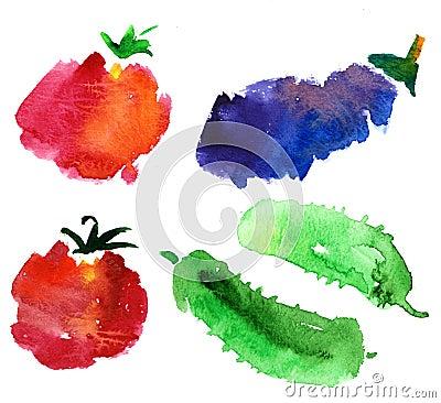 Skissar grönsaken