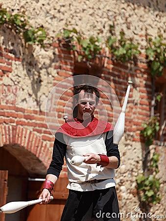 Skittle juggler Editorial Image