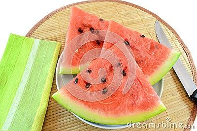 Skivar vattenmelonen