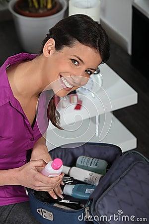 Skönhetfall som förbereder kvinnabarn