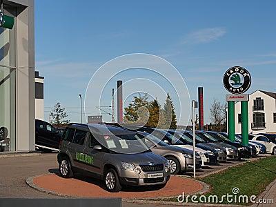 Skoda dealership Editorial Stock Photo
