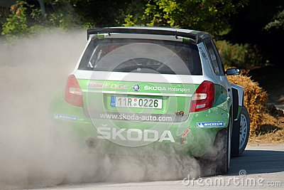 Skoda Rally Car Editorial Photo