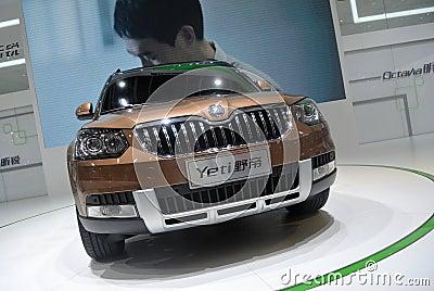 Skoda yeti SUV front Editorial Image