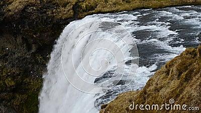 Skogafoss в Исландии 4K сток-видео