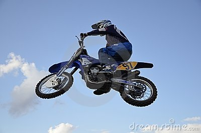 Skoku moto motocyklu setkarza spektakularny Obraz Stock Editorial