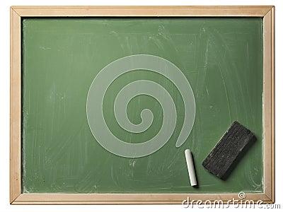 Skola blackboarden som isoleras