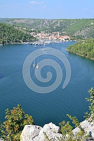 Free Skradin Town In Dalmatia, Croatia Royalty Free Stock Image - 46302836