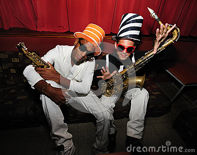 Skraj musikersaxofon