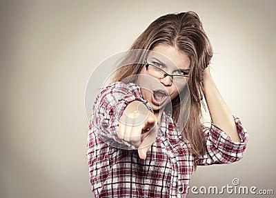 Skrikig kvinna