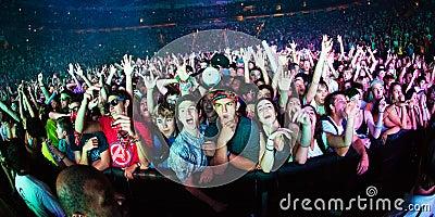 Skrillex Fans at Bumbershoot Editorial Image