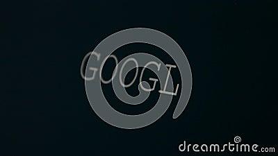 Skriva ordet Google arkivfilmer