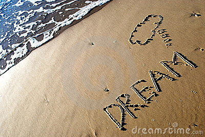Skriven dröm- sand