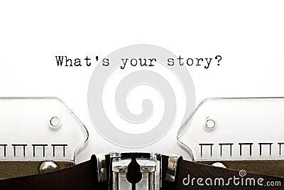 Skrivmaskin vad är din berättelse