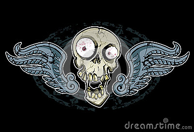 Szalona czaszka i skrzydła