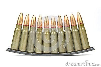 SKS Sturmgewehr-Gewehrkugeln auf Klipp-Streifen