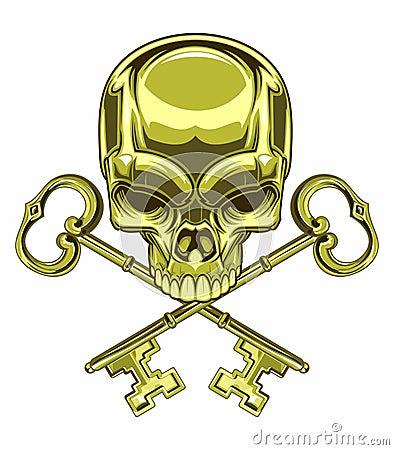 Free Skull And Keys Stock Photo - 49417890