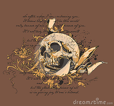 Free Skull And Knife  Royalty Free Stock Image - 4333966