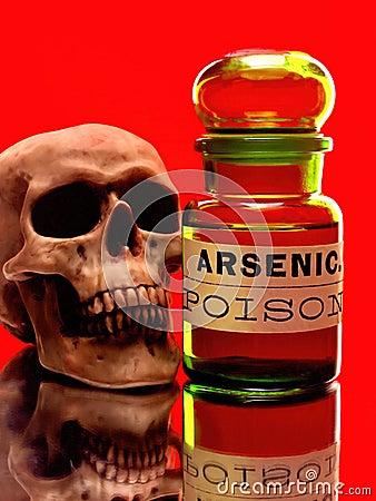 Free Skull & Arsenic Bottle Stock Photo - 41661020