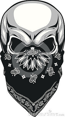 Free Skull Bandana Royalty Free Stock Photo - 57169645