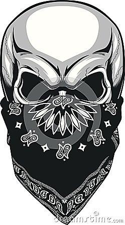 skull bandana stock vector image 57169645. Black Bedroom Furniture Sets. Home Design Ideas