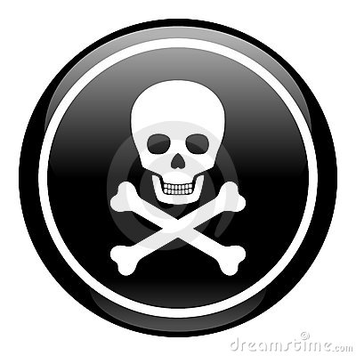 Skull On Button Royalty Free Stock Images - Image: 14518099