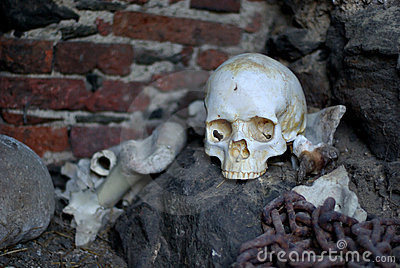 Skull in Castle Dungeon