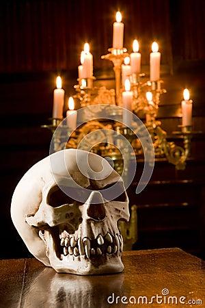 Skull in chapel
